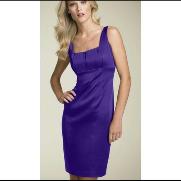 Calvin Klein Dresses & Skirts - Calvin Klein Purple Sleeveless Satin Dress D101